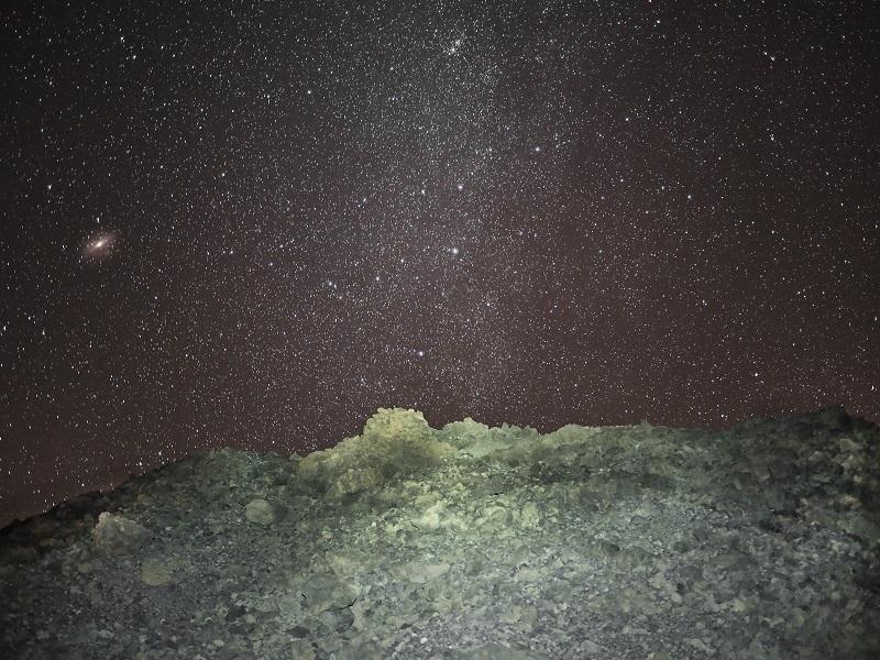 Cielo nocturno desde el refugio de Altavista