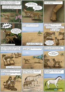 Cómic sobre la evolución de los caballos