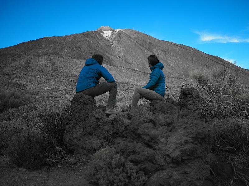 Vista del Teide desde los Roques